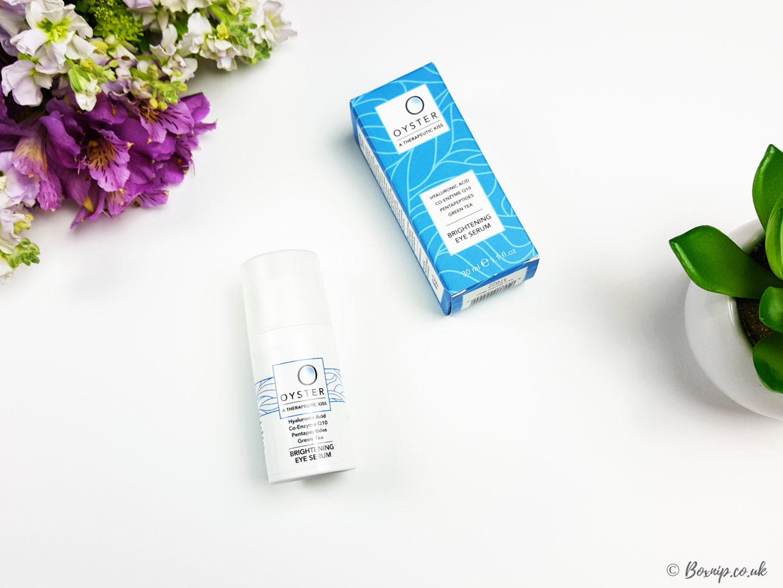 Oyster Skincare Brightening Eye Serum + Giveaway