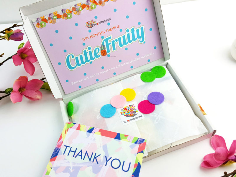 Cutie Fruity May Boxcitement & GIVEAWAY!!