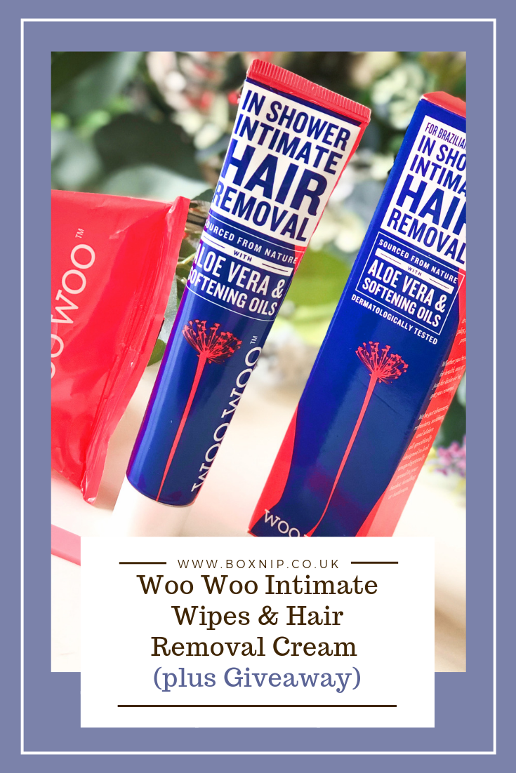Woo Woo Intimate Wipes & Hair Removal Cream (plus Giveaway)