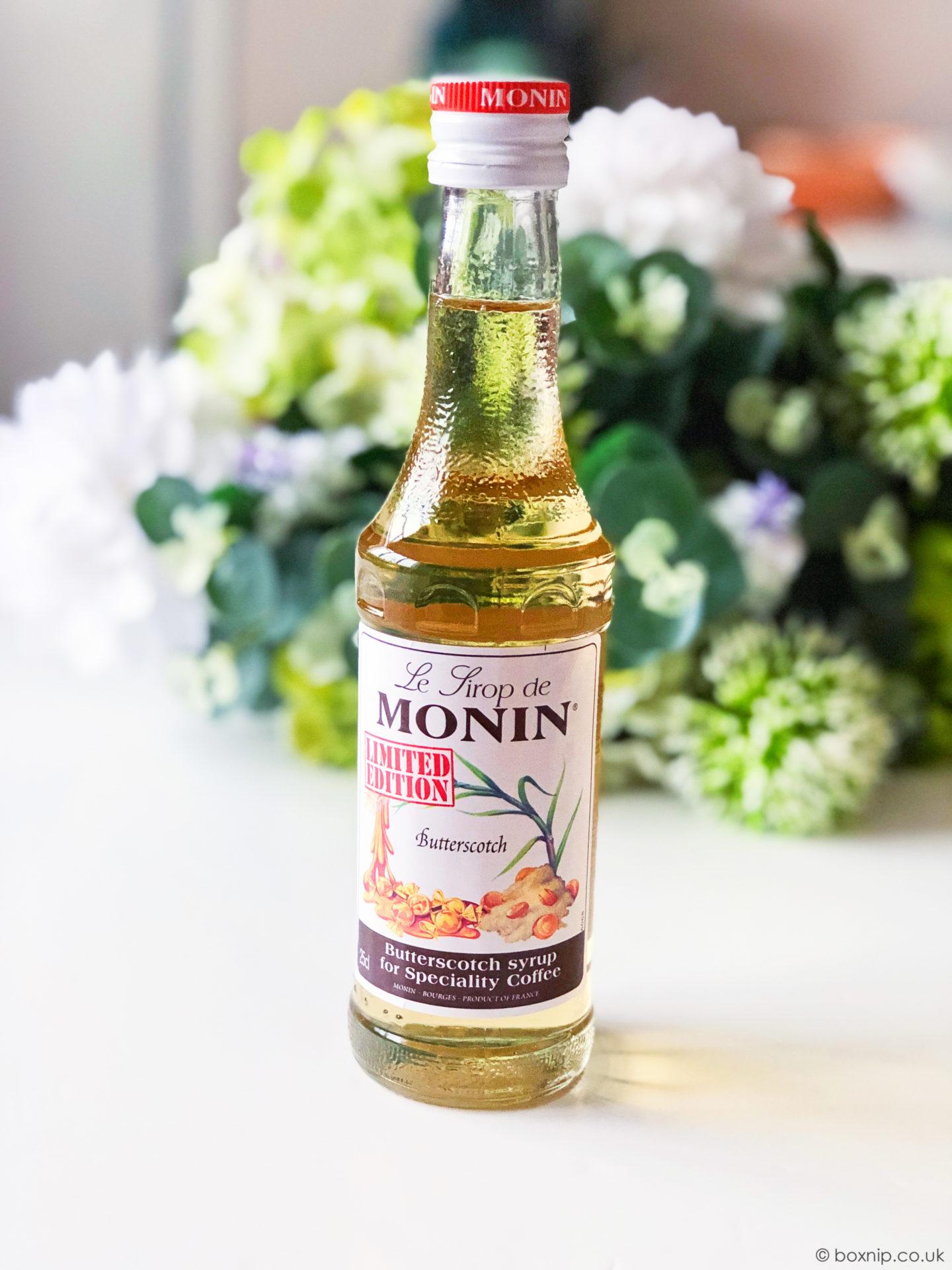 MONIN Butterscotch Coffee Syrup - July 2019 Degusta Box
