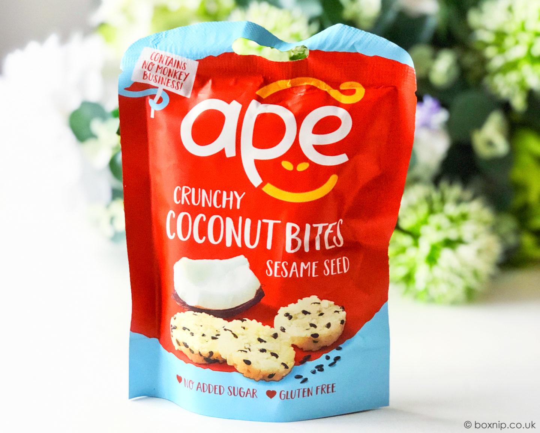Ape Snacks Coconut Seasame Seed Bites - July 2019 Degusta Box