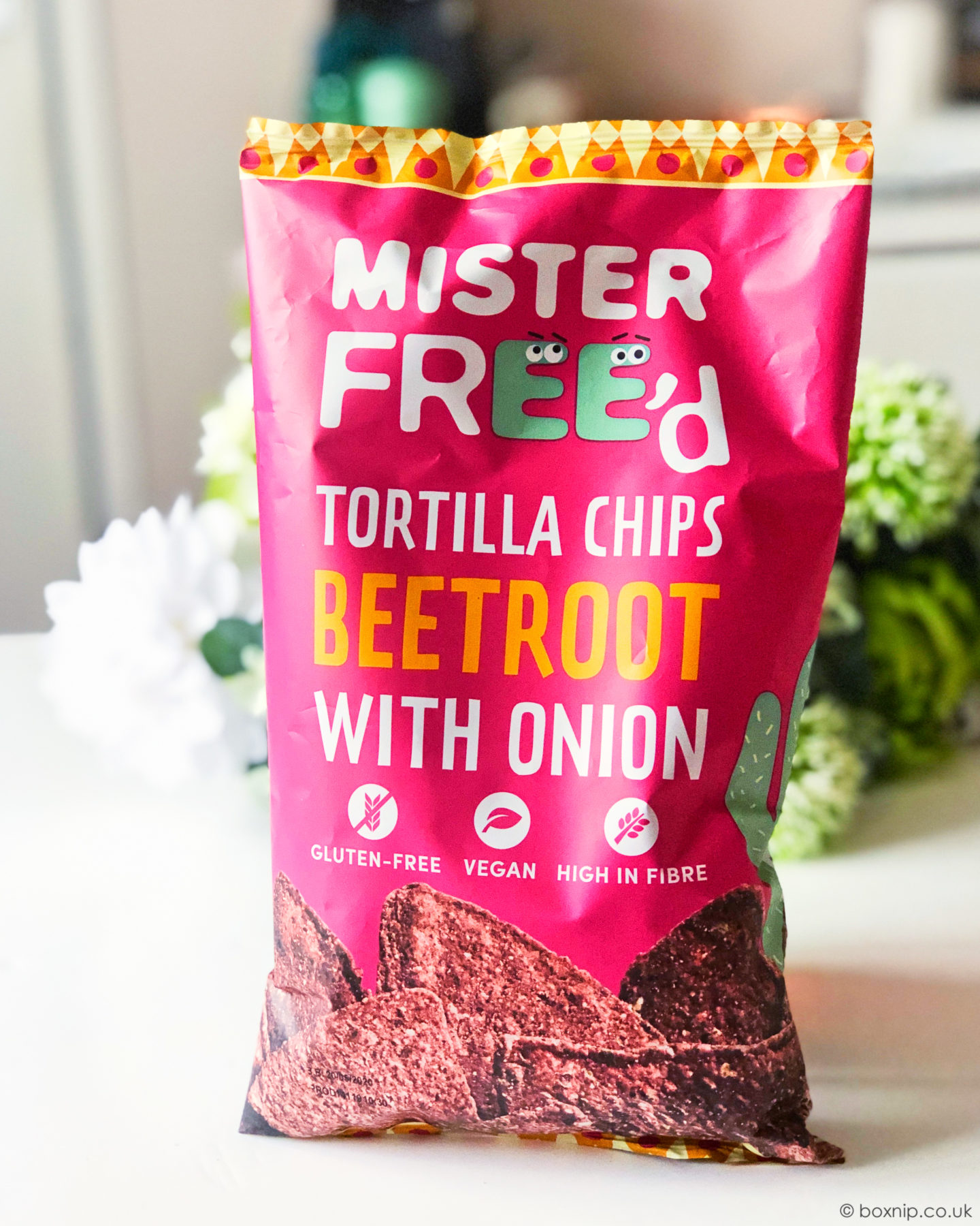Mister Free'd Tortilla Chips - Beetroot with onion £1.99 - July 2019 Degusta Box
