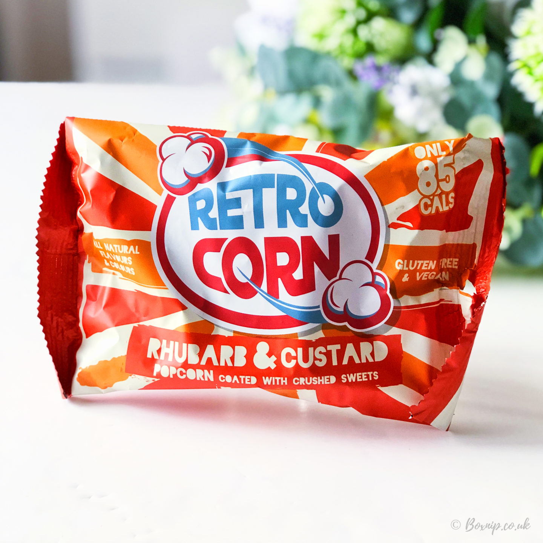 Retro Popcorn Rhubarb and Custard