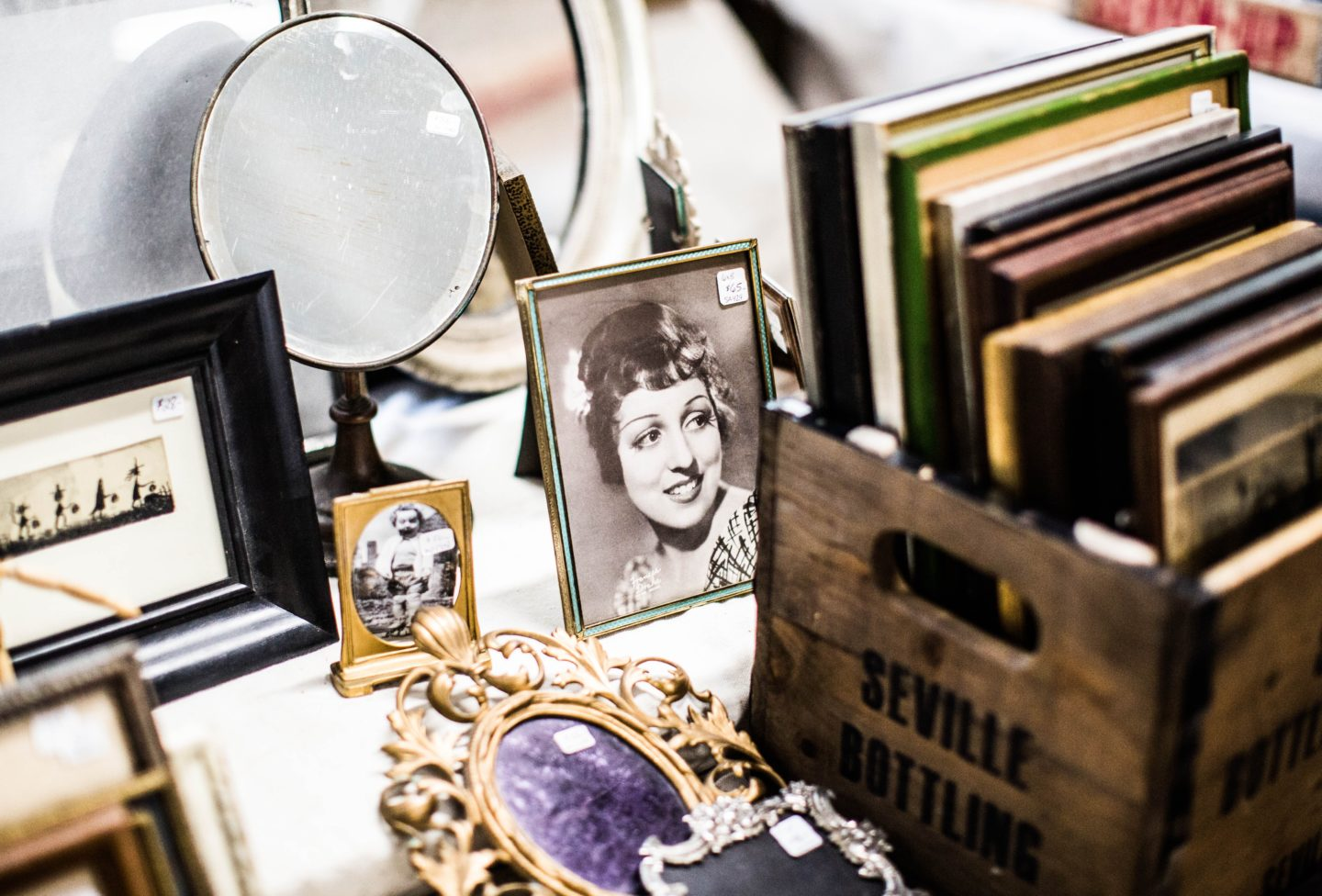 self storage - old photos and photo frames