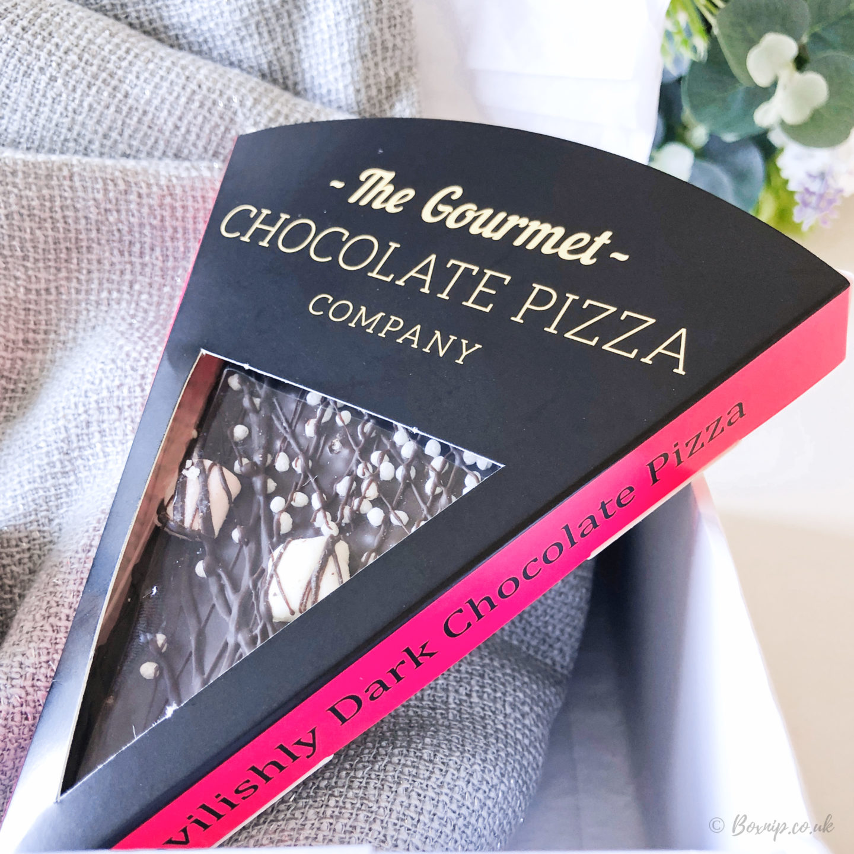The Gourmet Chocolate Pizza Company Devilishly Dark Chocolate Pizza Slice