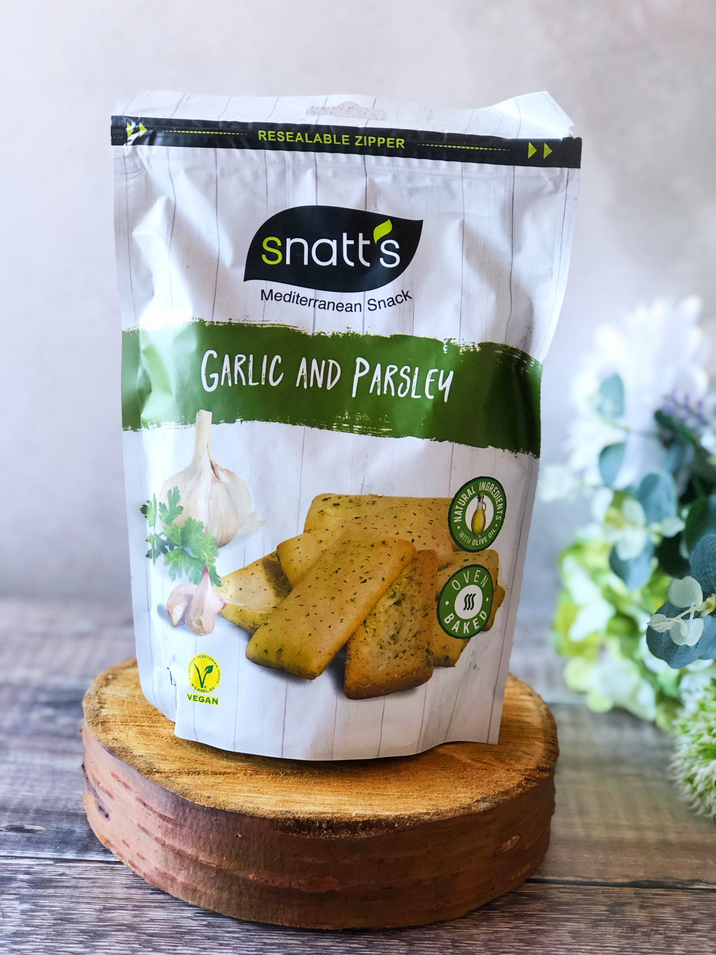 Snatt's Garlic & Parsley Mediterranean Baked Snacks - October 2019 Degusta Box