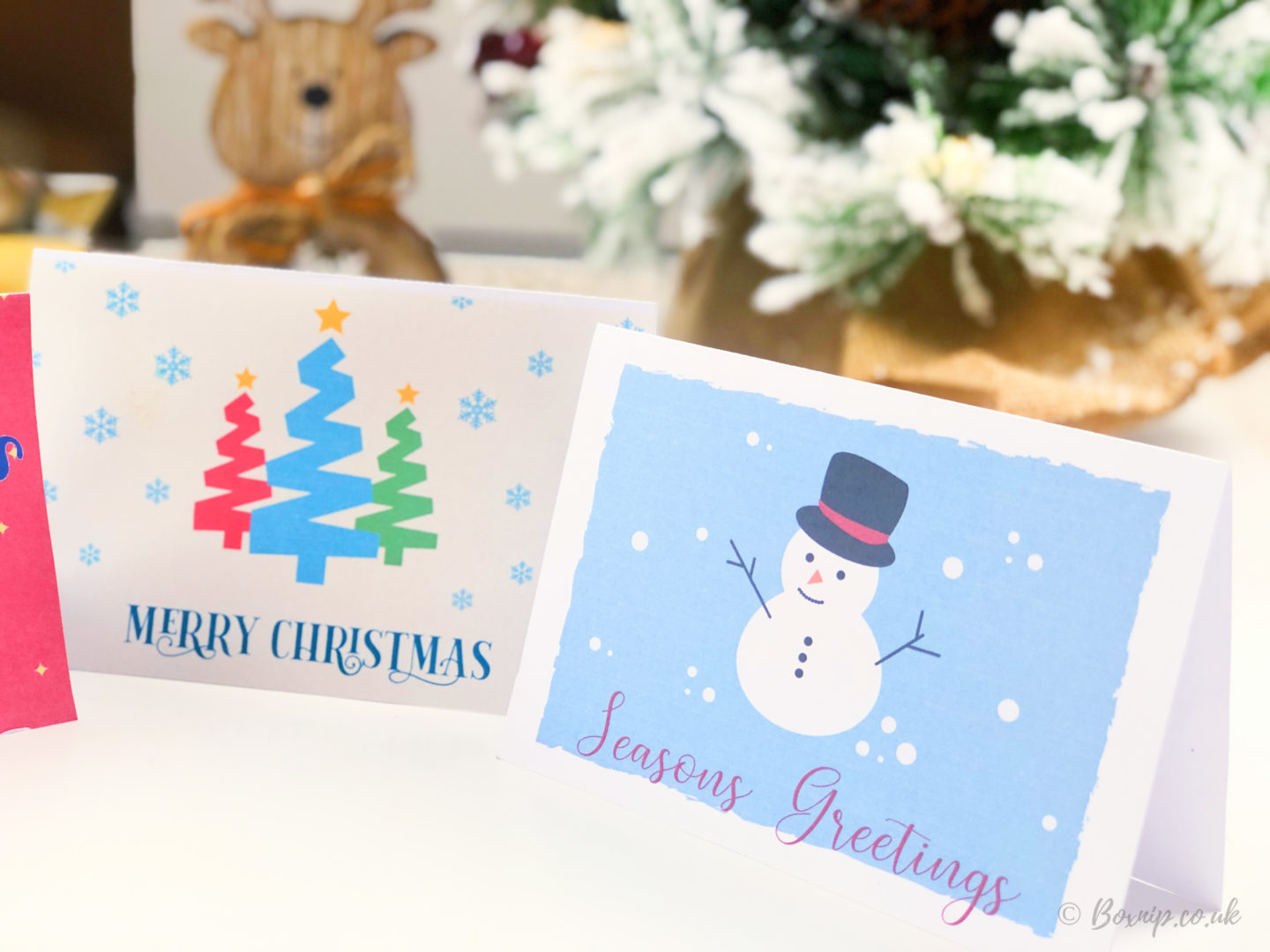 Christmas Cards made using Free Fonts