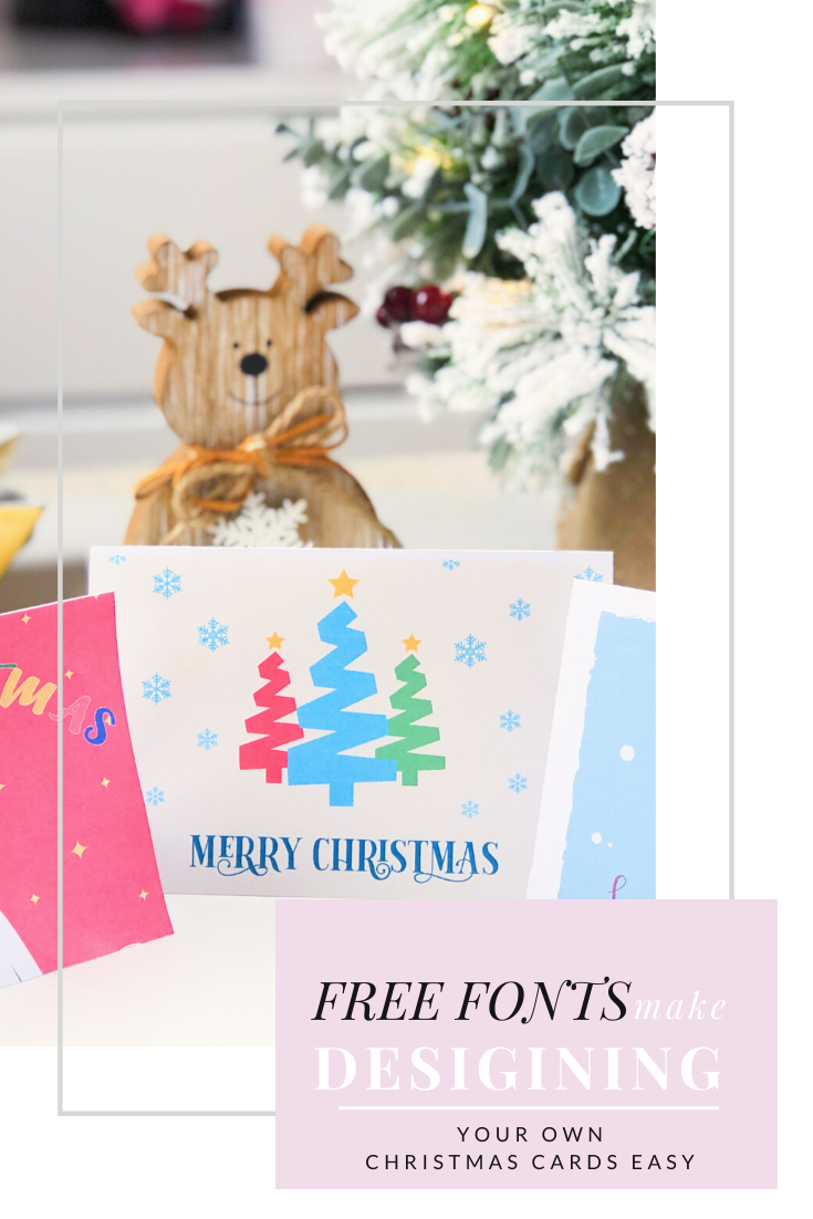 Free Fonts Make Design Christmas Cards Easy - Pin This!