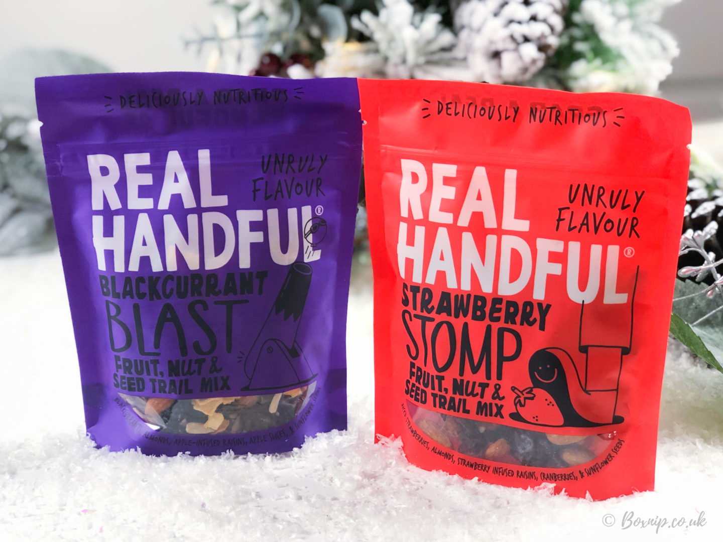 Real Handful Strawberry Stomp Trail Mix / Blackcurrant Blast Trail Mix- November 2019 Degusta Box