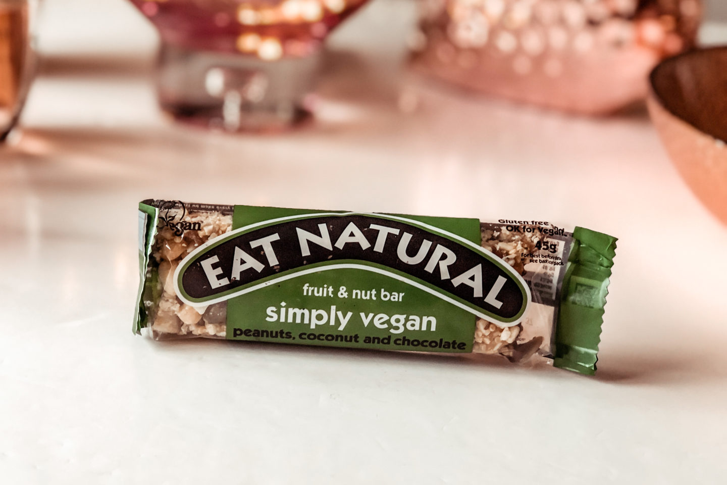Eat Natural Simply Vegan peanuts, coconut and chocolate bar - January 2020 Degusta Box