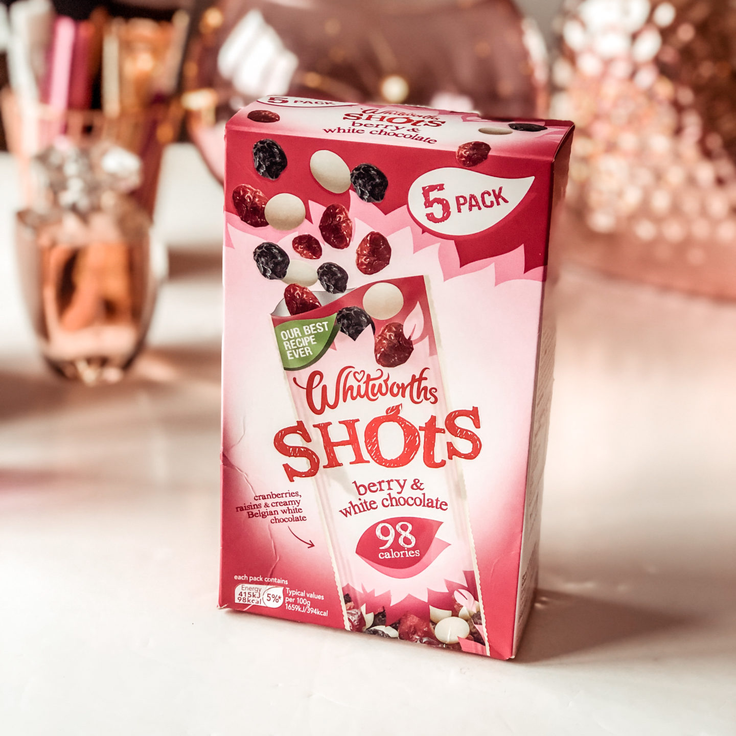 Whitworths Shots Berry & White Chocolate