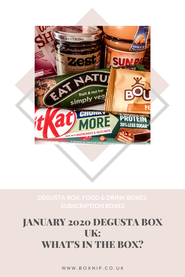 January 2020 Degusta Box UK: What's In The Box? PIN THIS!