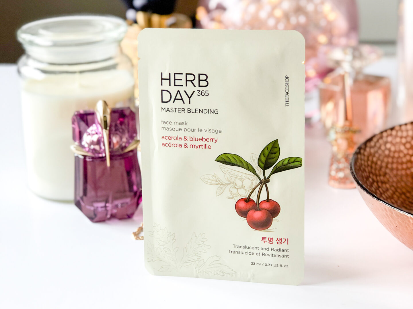 THE FACE SHOP Herb Day Acerola & Blueberry Mask