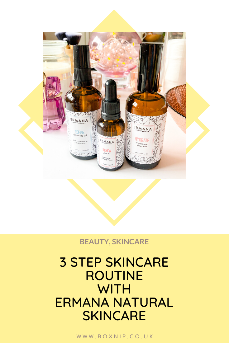 3 step skincare routine with Ermana Natural Skincare