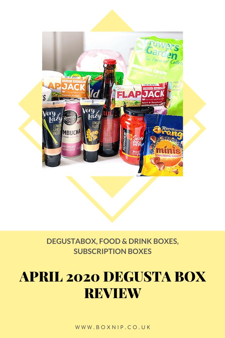 April 2020 Degusta Box Review - Pin This!