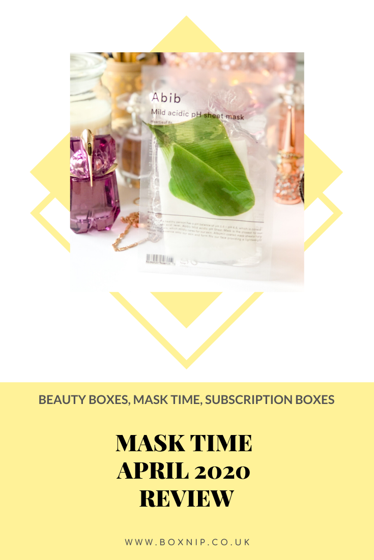 Mask Time April 2020 Glow Setter Box Review - PIN THIS!