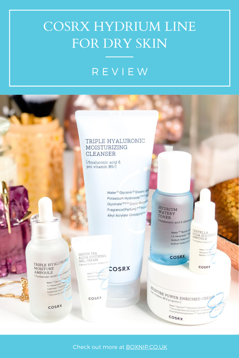 COSRX Hydrium Line for Dry Skin ~ Boxnip: A UK Beauty & Lifestyle Blog