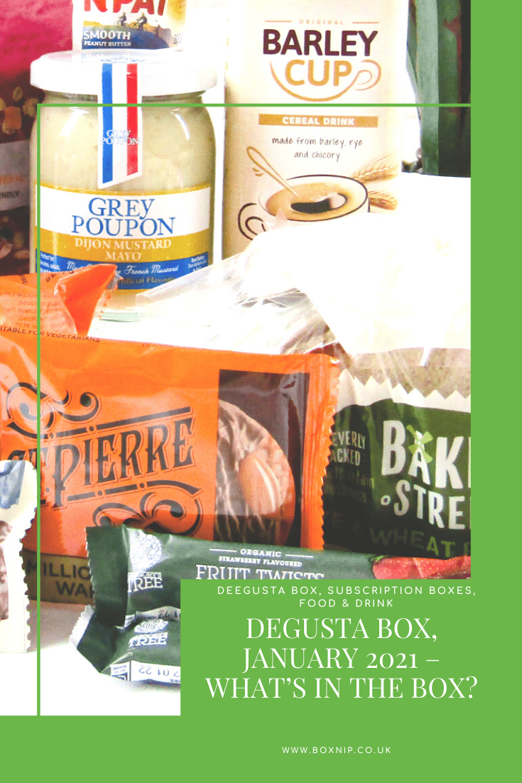 Degusta Box, January 2021 – What's In the Box?